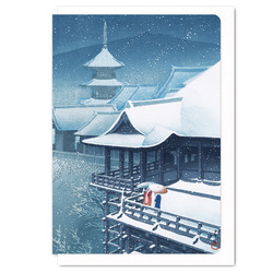 Japan centre buy japanese cards stationery online snow at temple greeting card 16 g m4hsunfo
