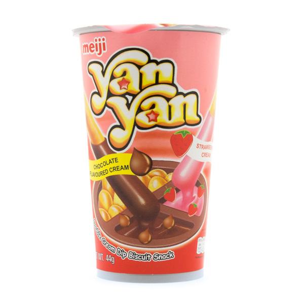 6160 meiji yanyan double strawberry chocolate