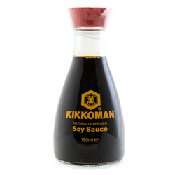 888 kikkoman soy sauce in dispenser