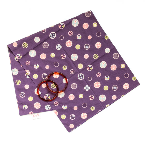 10844 furoshiki rings purple dot main