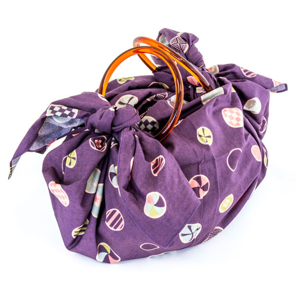 10844 furoshiki rings purple dot bag