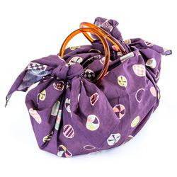 10844 furoshiki rings purple dot bag