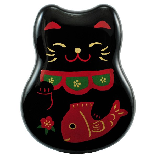 5973 lucky cat lunch box black main