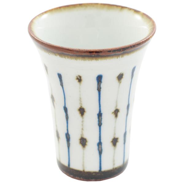 11654 cup white blue brown stripe pattern