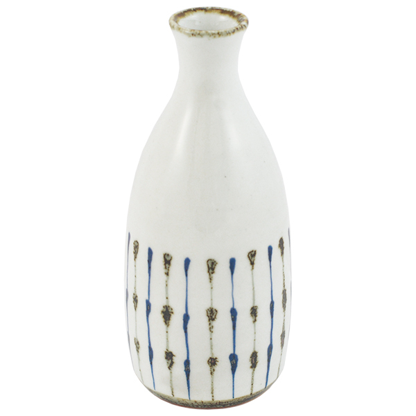 11655 bottle white blue brown stripe pattern