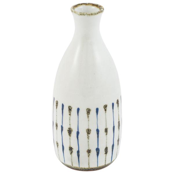 11655 bottle white blue brown stripe pattern