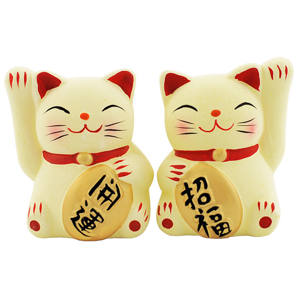 11870 lucky cat ceramic figurines