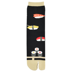 12258 unisex split toe socks black sushi