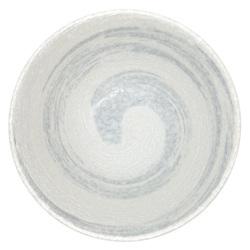 11559 ceramic noodle bowl white grey swirl inside