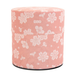 11938 tea canister pink plum cherry blossom