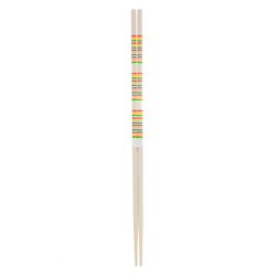 11887 wooden cooking chopsticks green yellow red stripe pattern