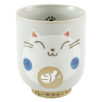 Ceramic Cat Teacup - Blue