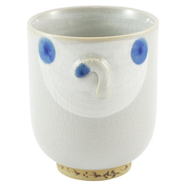 11871 ceramic cat teacup blue back
