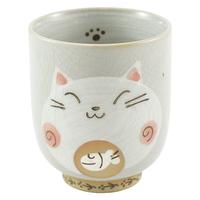 Ceramic Cat Teacup - Pink