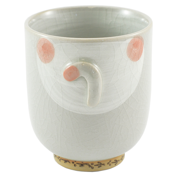 11872 ceramic cat teacup pink back