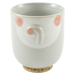 11872 ceramic cat teacup pink back