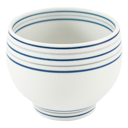 11668 ceramic teacup white stripe pattern
