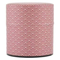 11948 tea canister red wave pattern