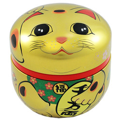11783 tea canister red lucky cat