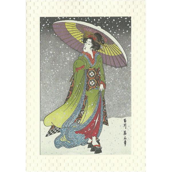 12196 ukiyoe beauty greeting card