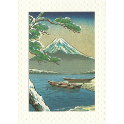 12587 mount fuji winter greeting card