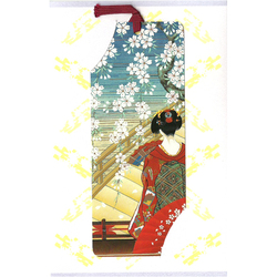 12592 geisha bookmark greeting card