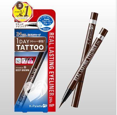 12733 kpalette 24h real lasting liquid eyeliner deep brown