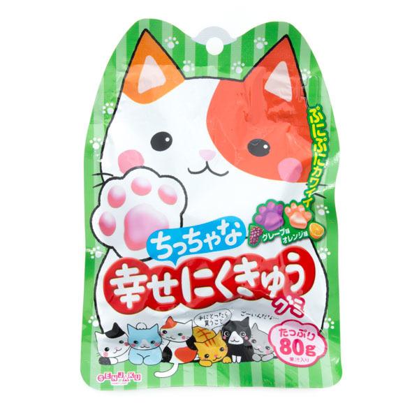 12826 senjyaku paw shaped grape and orange gummy candy