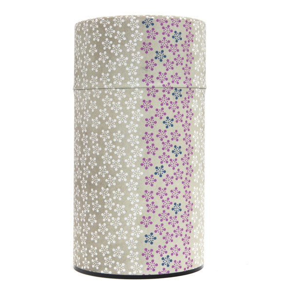 11917 tea canister large yellow flower pattern