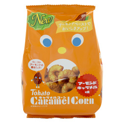 12909 tohato caramel corn roast almond caramel snacks