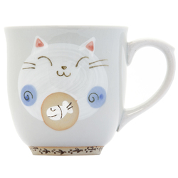 13116 ceramic cat mug blue