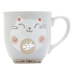 13134 ceramic cat mug red