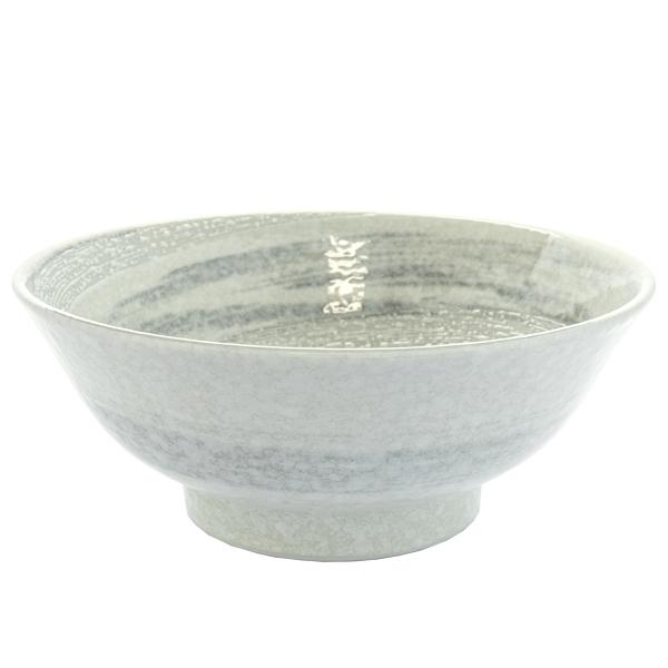 13171 ceramic noodle bowl white light blue swirl pattern