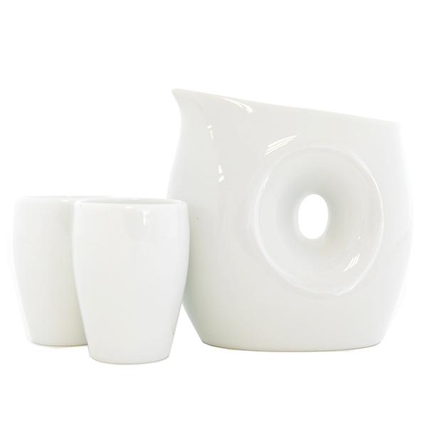 13178 ceramic sake set white