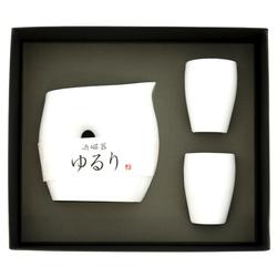 13178 ceramic sake set white 2