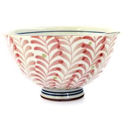 13083 ceramic rice bowl red foliage pattern