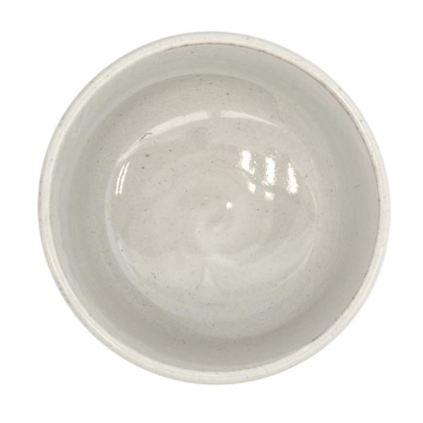13175 ceramic matcha bowl grey stripe pattern inside
