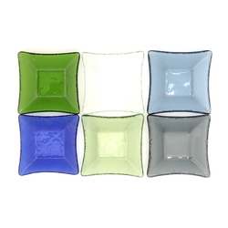 13110 glass small serving plate set multicolour 2