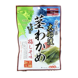 13301 sokan ofunato plum and perilla seasoned wakame seaweed snacks