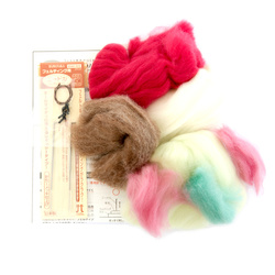 13308 hamanaka felt wool craft kit  frog and panda 2