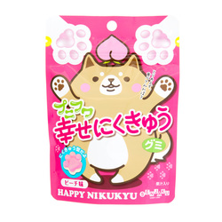 13367 senjyakuame nikukyu paw shaped peach gummy candy
