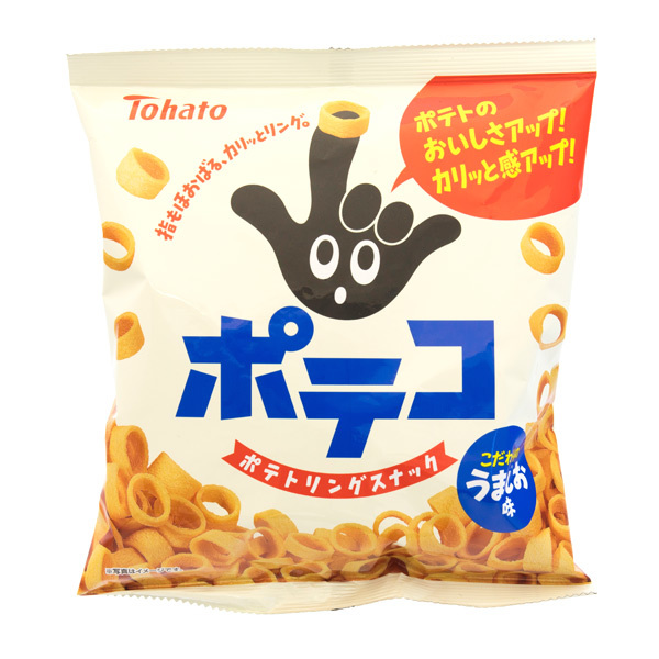 13385 tohato poteko salted potato ring snacks