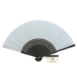 13542 fan blue  white  polka dot  unfurled