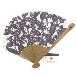 13544 fan purple  floral  unfurled