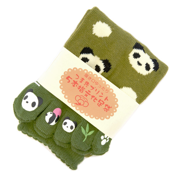 13528 japanese toe socks  panda pattern