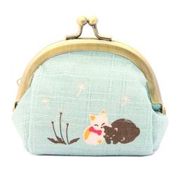 13553 mini cat coin purse meadow