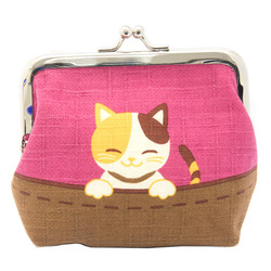 13556 cat coin purse  pink  cheeky siblings 2