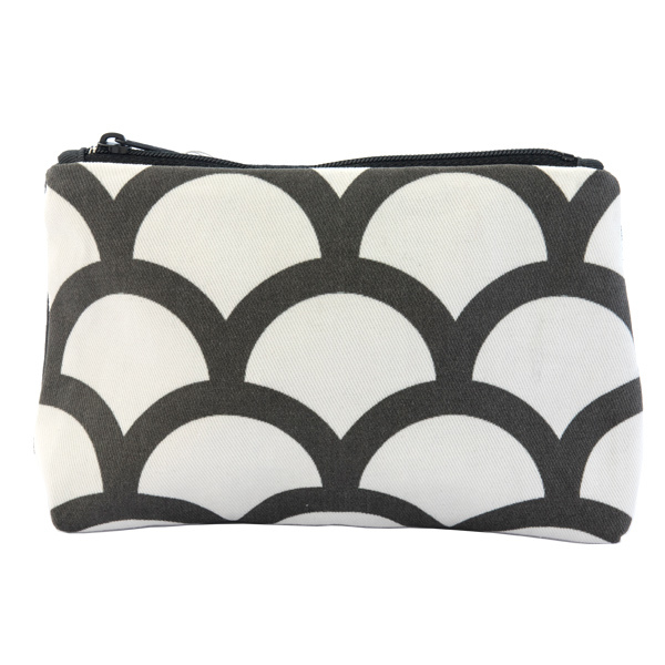 13564 multi purpose case   black and white  seigaiha wave