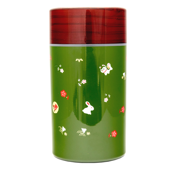 13566 tea canister large   green