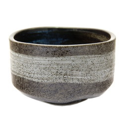 13581 ceramic matcha bowl   brown  grey brushstroke